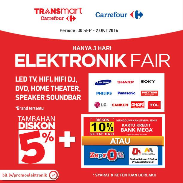 Katalog Carrefour Promo Elektronic Fair Terbaru Periode 30 September – 2 Oktober 2016