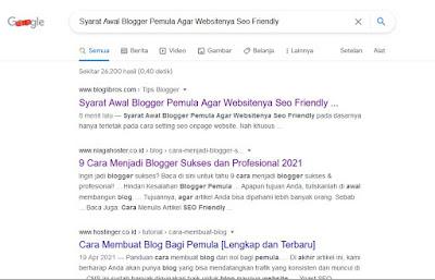 syarat awal blogger pemula agar websitenya seo friendly