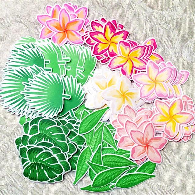 Sunny Studio Stamps: Radiant Plumeria Layered Flower & Tropical Leaves Stamp Set Summer 2020 Sneak Peek