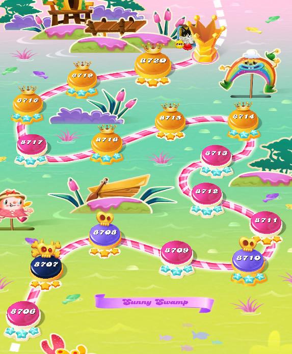 Candy Crush Saga level 8706-8720