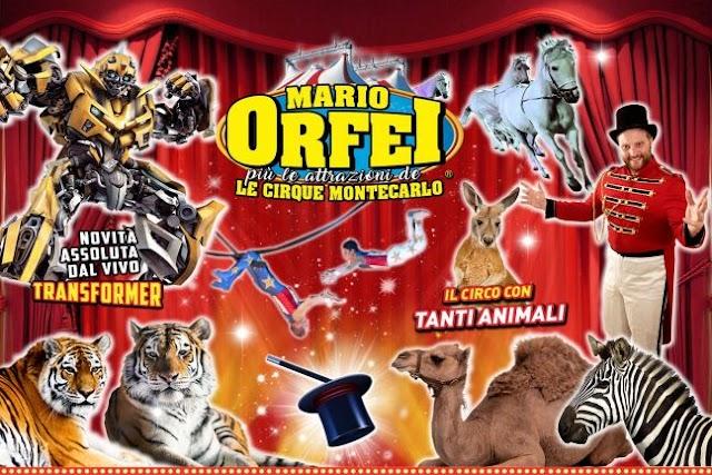 """Il Circo Mario Orfei più le attrazioni de """"Le Cirque Montecarlo"""" con il suo incredibile spettacolo dal 23 agosto a Bergamo"""