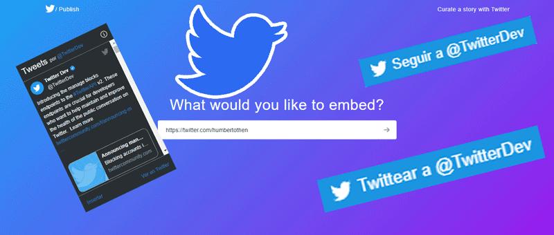 crear un widget de Twitter para tu página web o blog