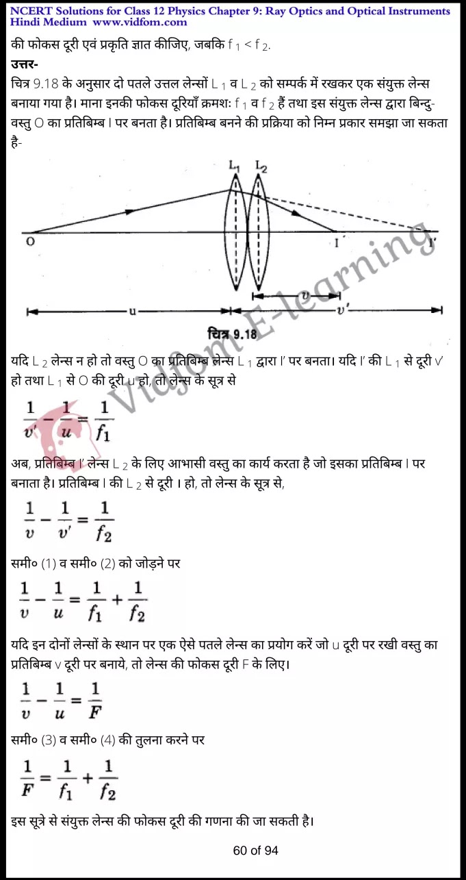 class 12 physics chapter 9 light hindi medium 60