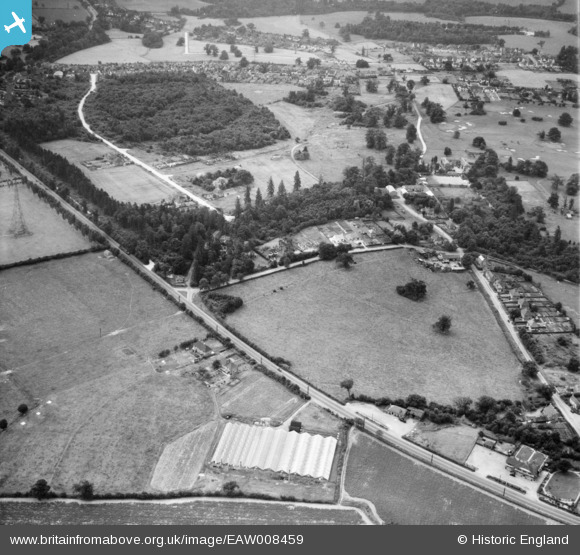 Photograph of Nursery off the Great North Road and Bell Lane, Brookmans Park, 1947 Image courtesy of Britain From Above