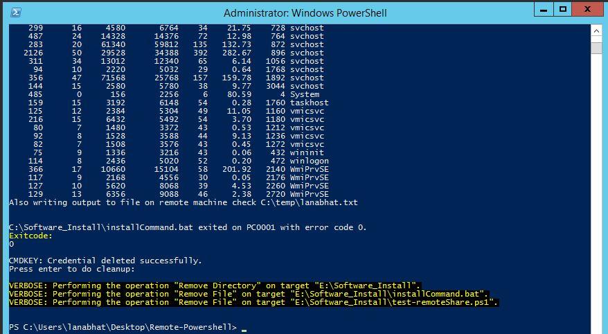SCCM 2012 Powershell Scripts: Run powershell on remote machine