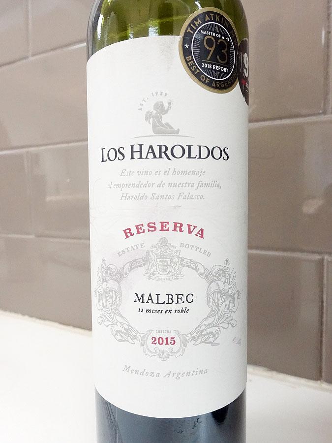 Los Haroldos Reserva Malbec 2015 (89 pts)