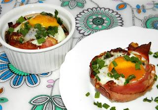 muffiny jajeczne z szynką