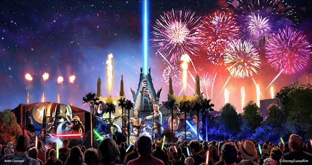 Disney's Hollywood Studios, New Star Wars: A Galactic Spectacular - @Disney Artist rendering