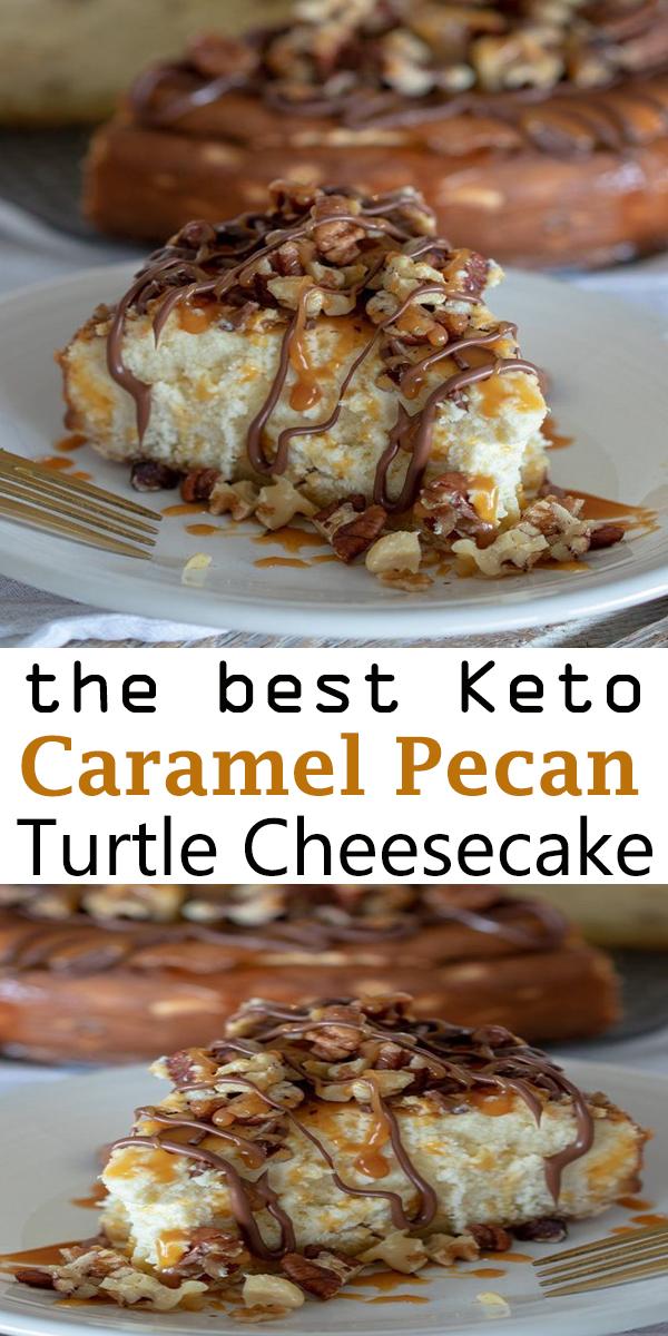 Keto Caramel Pecan Turtle Cheesecake #Keto #Caramel #Pecan #Turtle #Cheesecake #KetoCaramelPecanTurtleCheesecake