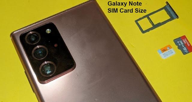 Samsung Galaxy Note SIM Card Size