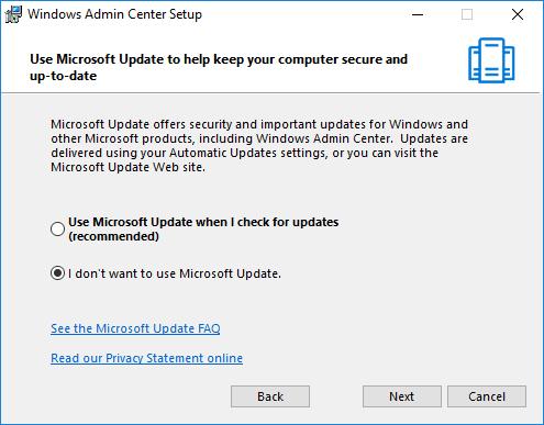 قم بتثبيت مركز إدارة Windows على Windows Server 2016