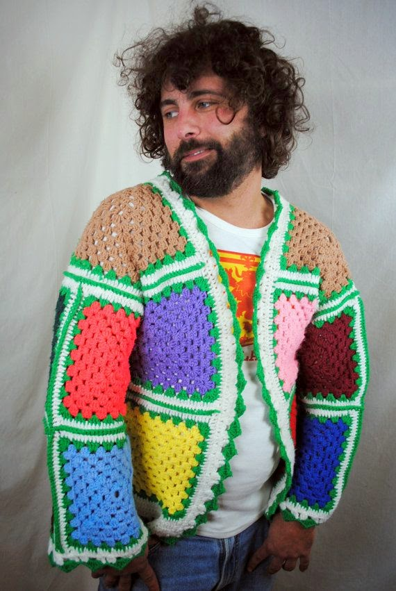 crochet mans sweater