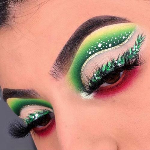 Maquillaje artístico para Nochebuena