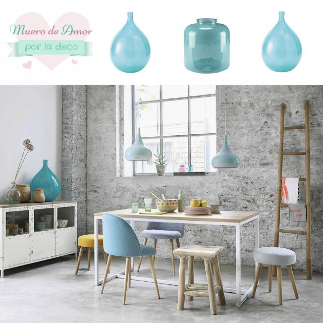 Jarrones Azules para Decorar tu Casa-Maisons Du Monde-By Ana Oval-5
