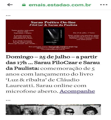 Aniversário do Sarau da Paulista