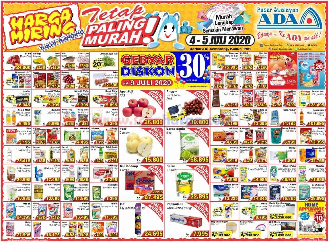 Katalog Promo ADA Swalayan Terbaru 4 - 5 Juli 2020