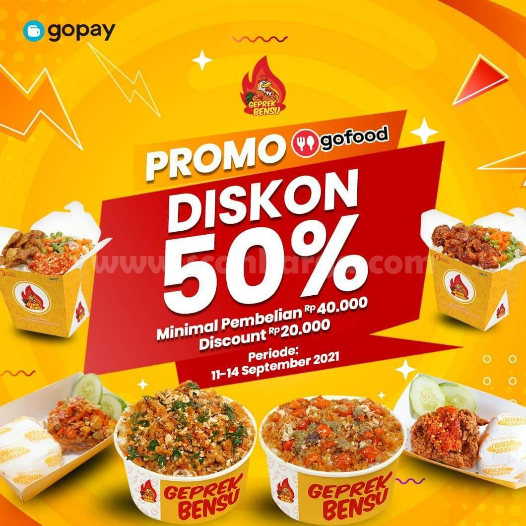 Promo Geprek Bensu Diskon 11 - 19 September 2021