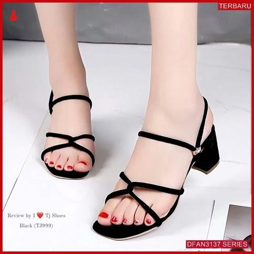 DFAN3137S112 Sepatu Dl35 Hak Tahu Wanita Sol Karet BMGShop
