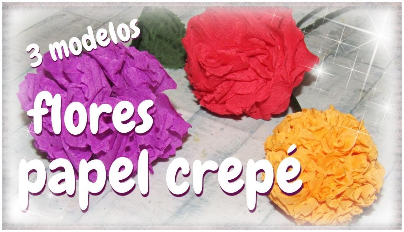 Artesania Lara Flores De Papel Crepe Sencillas 3 Modelos Paso A