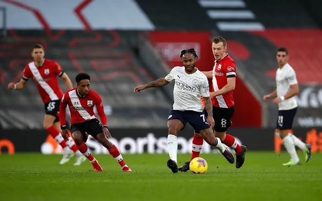ملخص مباراة مانشستر سيتي وساوثهامبتون (1-0) اليوم السبت في الدوري الانجليزي
