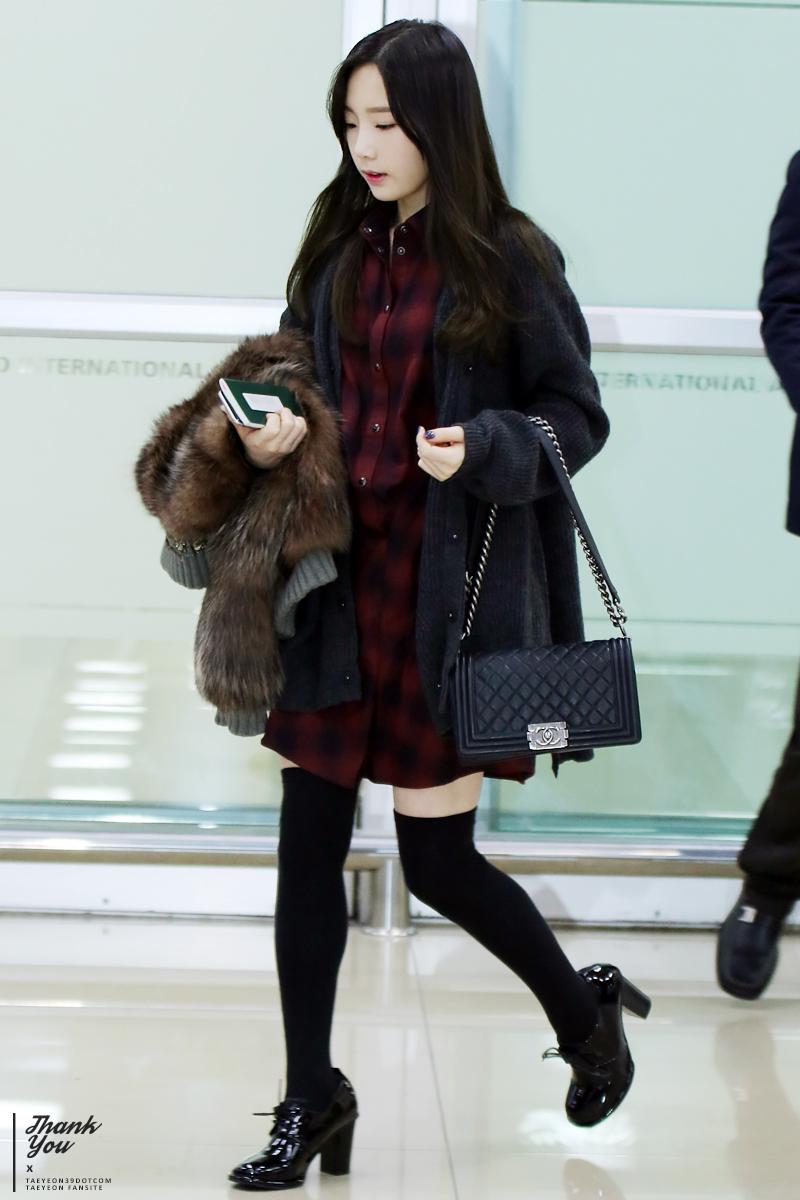 Fastion: SNSD Taeyeon Airport Fashion