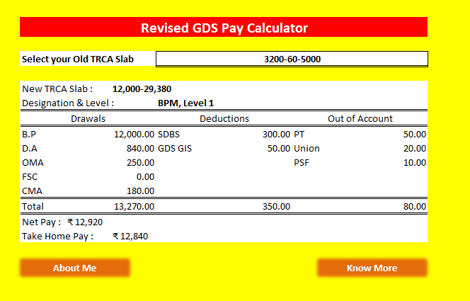 GDS Revised TRCA Calculator - Postal Blog