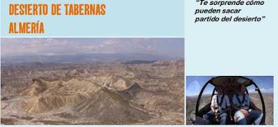 Volando voy en el desierto de tabernas en almeria