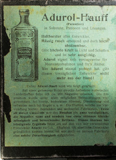 Rückseite Karton für Hauff-Trockenplatten 9x12 cm - Nummer: 3005 - um 1900