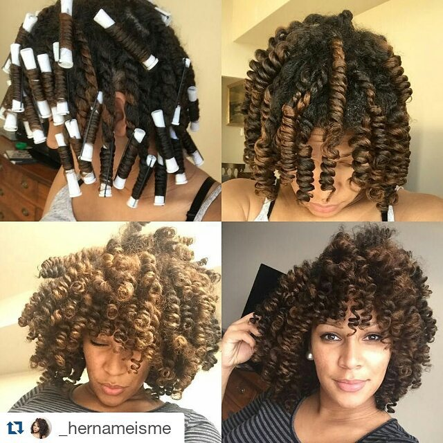 How to get glamorous perm rods on natural hair rockin it hernameisme urmus