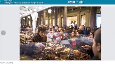Torino e il cioccolato su El Mundo
