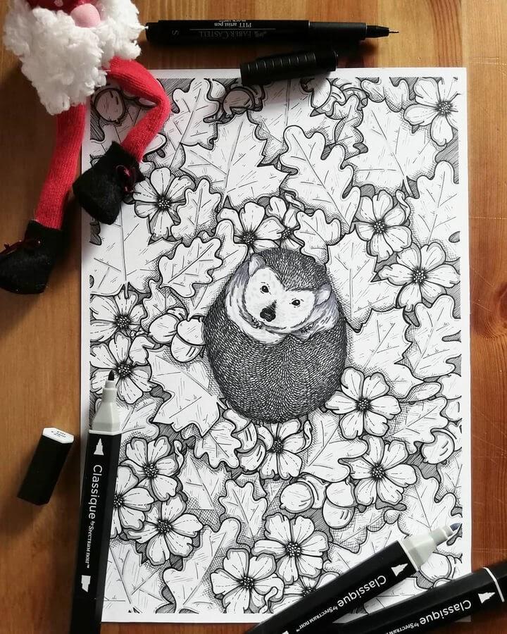 05-The-comfortable-hedgehog-Beatrice-Moretti-www-designstack-co