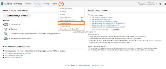 Cara menentukan Keyword dengan Google Keyword Planner