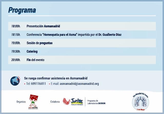 Conferencia homeopatía para el asma