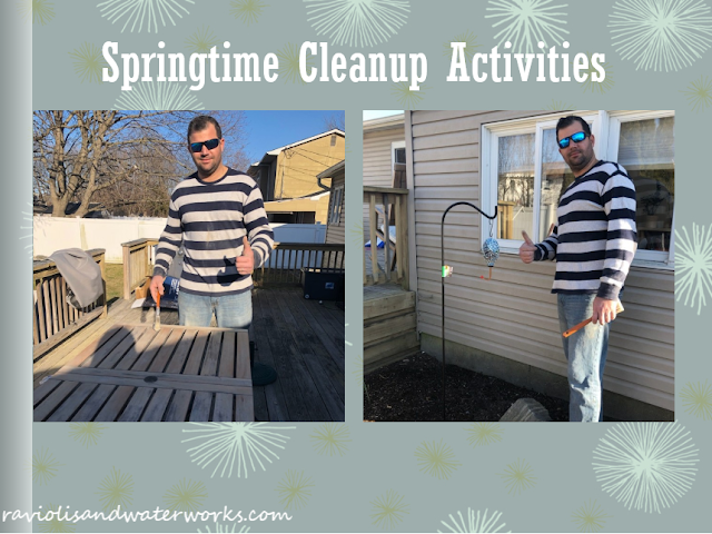 spring time clean up; getting ready for spring; spring cleaning; setting up your house for spring