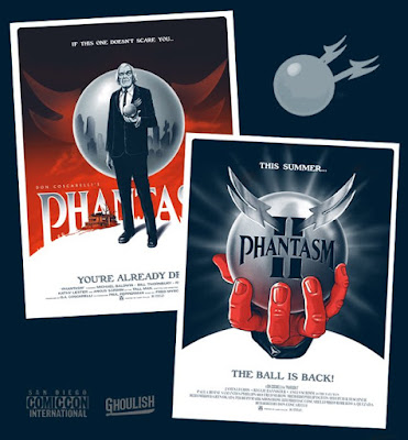 San Diego Comic-Con 2018 Exclusive Phantasm & Phantasm II Fine Art Giclee Movie Poster Prints by Ghoulish Gary Pullin