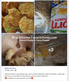 Resepi Biskut Raya Simple | Cornflakes Crunchy Cookies Azlina Ina