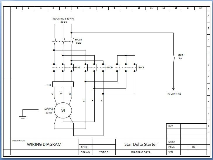 Etnik Sugitama Engineering  Gambar Diagram Rangkaian Starter Star Delta Motor Listrik 3 Fhase