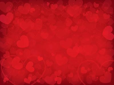 Fondo de corazones en vector en tonos rojos