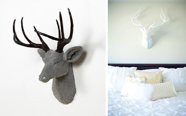 Marzua decorar paredes con cabezas de ciervo - Cabeza de ciervo decoracion ...