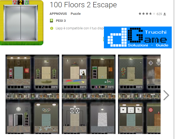 Soluzioni 100 Floors 2 Escape di tutti i livelli | Walkthrough guide