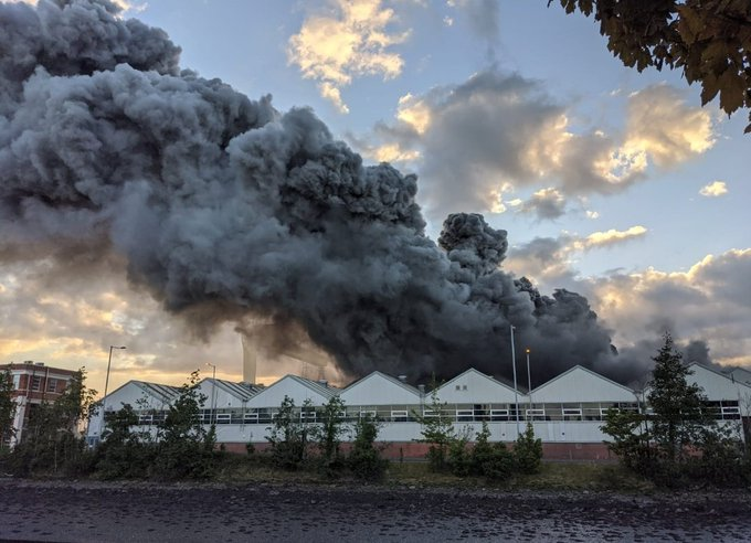 Massive Fire Breaks Out At Bombardier Facility In Belfast
