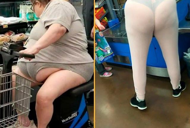 Модные посетители магазина Walmart