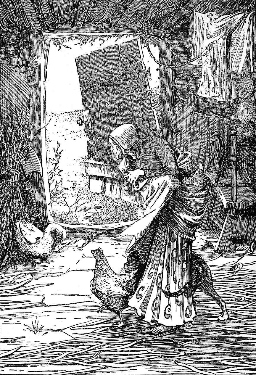 an Ellen Stratton illustration of a frightened woman