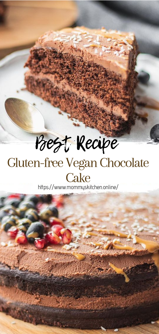 Gluten-free Vegan Chocolate Cake #cakerecipe #chocolate