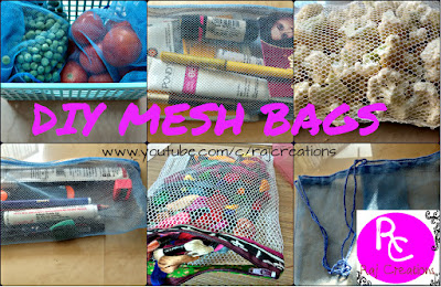 how to make mesh bags at home in 5 minutes