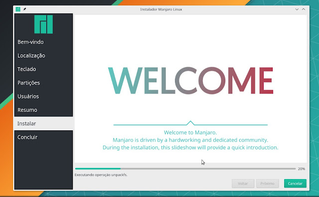 Instalação Manjaro Linux