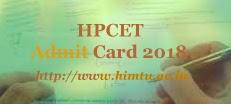 HPCET Hall ticket 2018| HPCET 2018 Hall ticket | HPCET Hall ticket 2018 Download | HPCET 2018 Hall ticket download | HPCET Hall ticket download 2018