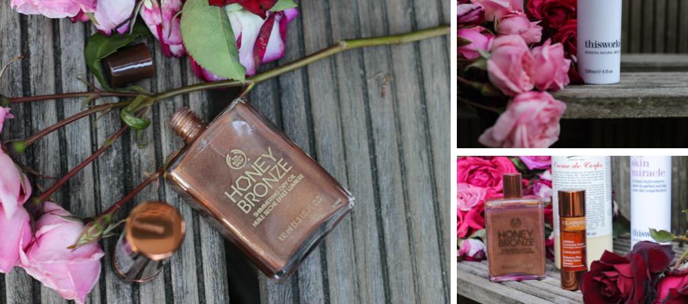 Body Shop Honey Bronze Clarins Addition Concentré Eclat