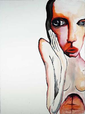 Liar, pintura de Marilyn Manson.