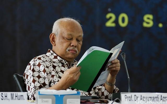 Azyumardi: Soal TWK Pilih Alquran atau Pancasila Lecehkan Agama